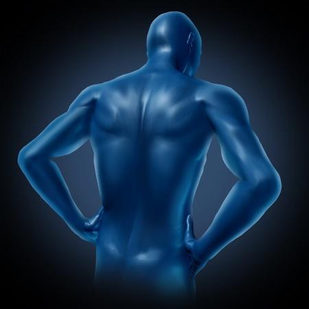 Human back photo