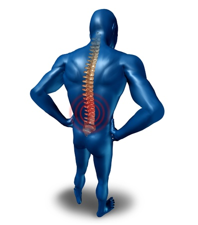 atrophy: human back pain spine posture spine spine isolated Stock Photo