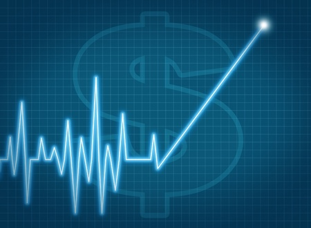 savings account growth taxes stock prices rise ekg monitor business symbol profits dividends investment chart success up Stock Photo - 11718489