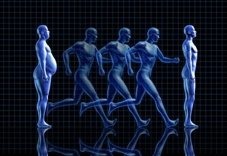 männer nackt: fitness Gewichtsverlust Fitness-Studio fit fettleibig Gesundheit Symbol gesundes Wohnen Lifestyle menschlichen