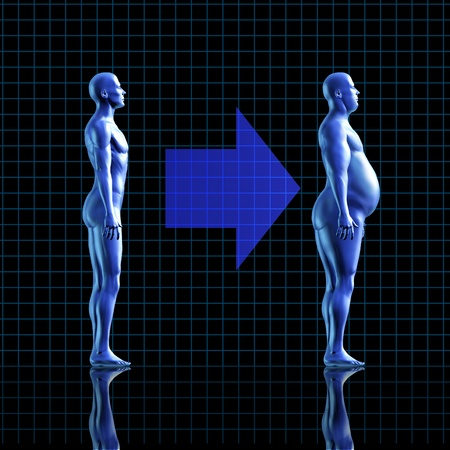 naked male body: weightloss calories health fitness diet exercise medical health healthy arrow fat transformation blue human symbol