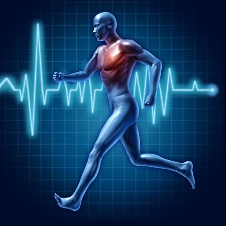course � pied: Ex�cution de l'�nergie runner homme actif