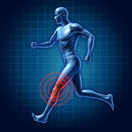leg injury: human Knee therapy runner joint pain medical injury