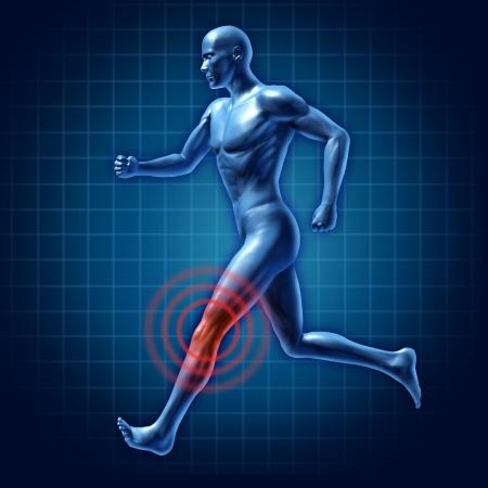 artritis: la terapia humana rodilla de corredor lesión dolor médica conjunta