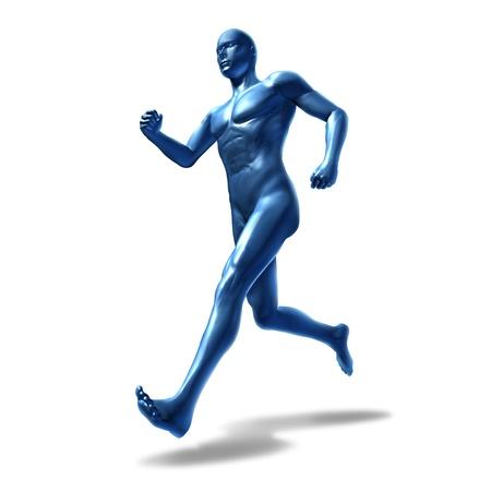 simbolo hombre mujer: Humanos gimnasio corriendo el hombre s�mbolo de la carta de ejercicio aislado en blanco