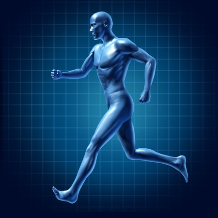cardiovascular exercising: running man active runner energy