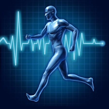 grid background: running man active runner energy