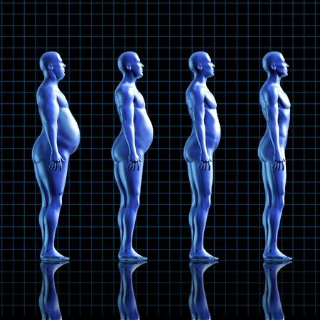 Pérdida De Peso Dieta Y El Cuerpo Humano Con Una Persona En Forma ...