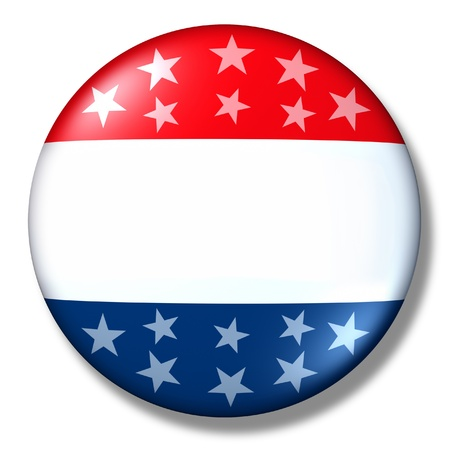 vote badge blank isolated patriotic election symbol Stock Photo - 11495590