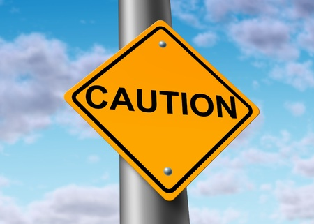 Caution danger road street sign symbol Stock Photo - 11495615