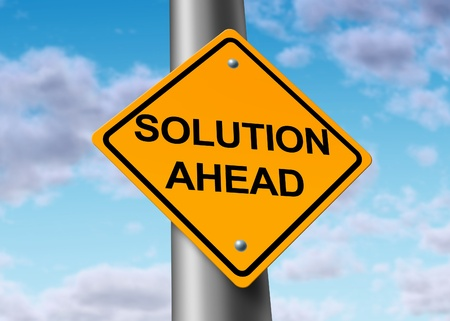 solution ahead answers road street sign symbol photo