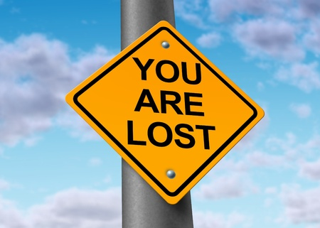Lost and Confused Signpost photo