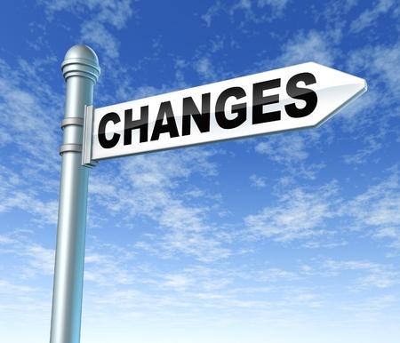변화는 변화에 적응 푯말 스톡 콘텐츠