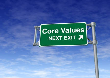 Core Values business symbol street road sign icon Stock Photo - 11409506