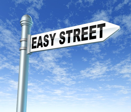 schemes: Easy street fast lane lucky Stock Photo