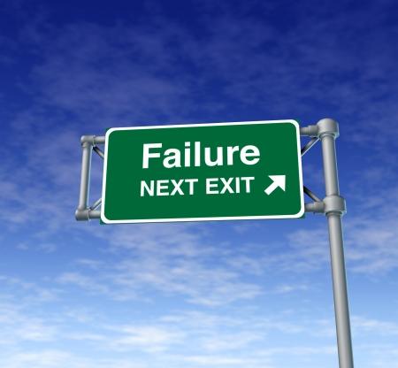 Failure Freeway Exit Sign highway street symbol green signage road symbol 스톡 콘텐츠