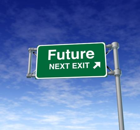 future predictions Freeway Exit Sign highway street symbol green signage road symbol