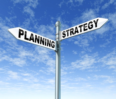 financial goals: planning strategy signpost direction