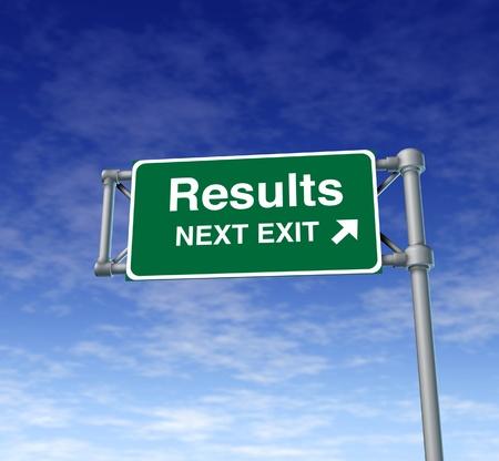 Resultaten Freeway Exit Sign snelweg straat symbool groene bewegwijzering weg symbool