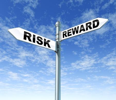 リスクと報酬の道標 写真素材