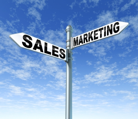 sales and marketing business signpost street opportunity selling promotion advertising market profits growth photo