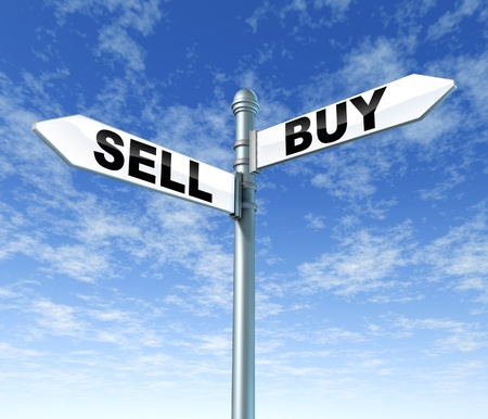 sell: sell buy signpost sign post