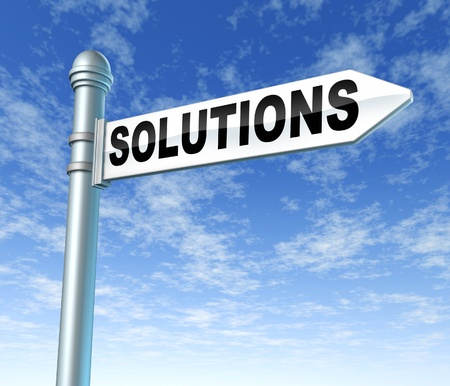 solutions signpost sign road motivations photo