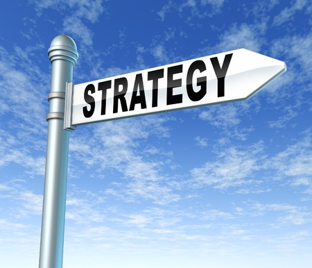 strategy street sign photo