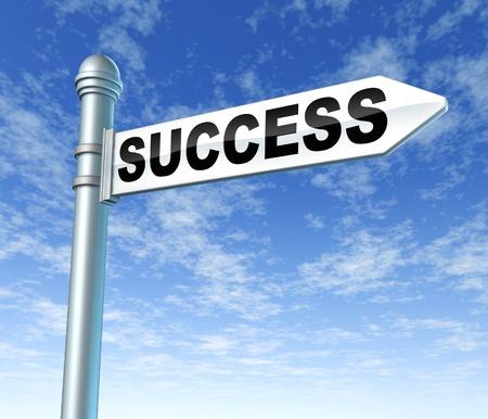 성공 푯말 표지판 스톡 콘텐츠