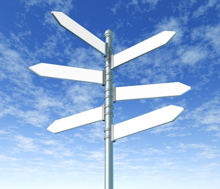 road to change: signpost multiple blank