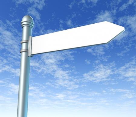signpost single blank photo