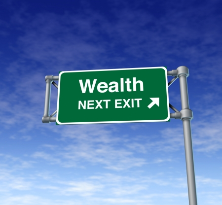 wealth Financial freedom rich independance Sign finances stocks Stock Photo - 11404942