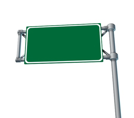 multiple lane highway: Blank Roadsign highway freeway road street symbol isolated Stock Photo