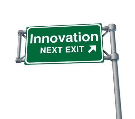 inventive: innovation invention inventive creative street road freeway sign high way sky green signage
