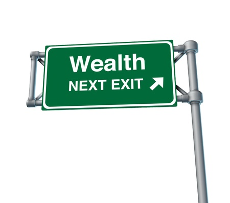 wealth Financial freedom rich independance Sign finances stocks isolated