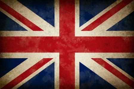Briten: Grunge Gro�britannien Flagge als alter Vintage-britischen Symbol des Patriotismus und der englischen Kultur auf einem antiken texturierte britischen Regierung und politische Ikone geschaffen, um England, Schottland und Wale zu unterst�tzen.