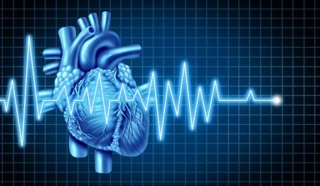 battement du coeur: Graphique ECG avec �lectrocardiogramme d'un c?ur humain qui repr�sente le c?ur et le pouls d'un patient pour un diagnostic sur la sant� n�cessitant la m�decine m�dicale pour aider � la maladie.