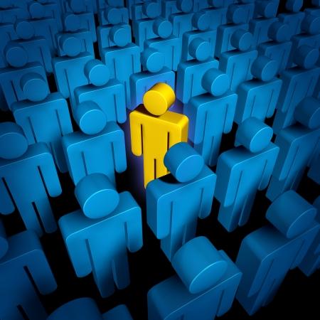 Geweldige persoon met een nieuwe manier van denken en het starten van een nieuw bedrijf