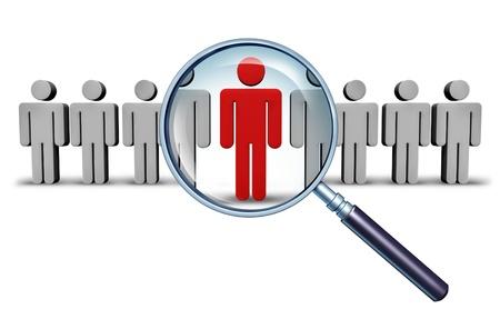 Zoeken naar een baan en beroepskeuze werkgelegenheid begrip
