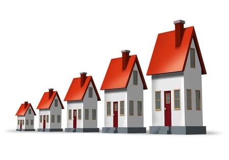 house prices: Real estate market Stock Photo