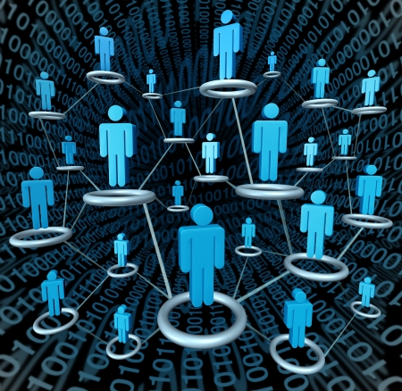 Social business network linked together by a connected web photo