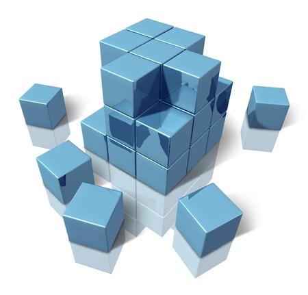 構築ブロック 写真素材