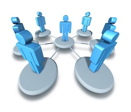 planeaci�n estrategica: Trabajo en equipo la gente de negocios reuniendo a un grupo con un l�der central y profesor gu�a y la comunicaci�n a la red de socios el camino a seguir para tener �xito con una estrategia com�n de la empresa y la planificaci�n. Foto de archivo