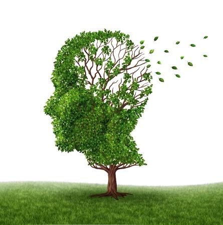 arbol de problemas: Lidiando con la demencia y el Alzheimer Foto de archivo