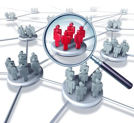 Team di comunicazione di rete Successo con il miglior gruppo selezionato in rosso come gli uomini d'affari che lavorano in partnership all'interno di una struttura collegata tecnologia di rete cellulare lo scambio di informazioni e servizi che lavorano insieme per avere successo. Archivio Fotografico - 12353875