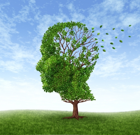 Memory loss due to  Dementia and Alzheimer Stock Photo - 12353999
