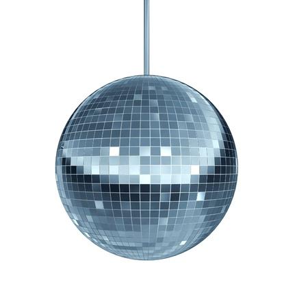 mirror ball: Bola de discoteca como un s�mbolo de bola de espejos de diversi�n y fiesta de baile en un club nocturno o el baile como una celebraci�n de dejarse llevar y disfrutar de la ranura del ritmo de la m�sica fresca Foto de archivo