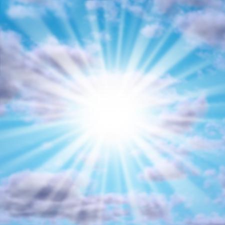 estrella de la vida: Silver revestimiento en las nubes con un sol brillante o una estrella como un poderoso s�mbolo natural de inspiraci�n y motivaci�n positiva para una vida mejor, m�s feliz en el futuro