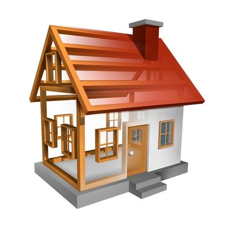 Het bouwen van een huis en woningbouw