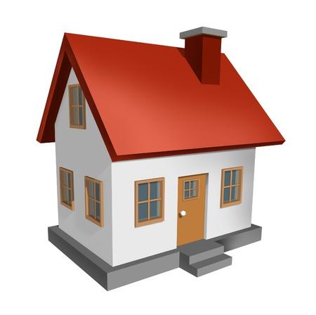 House isolated on white background Stock Photo - 12667461
